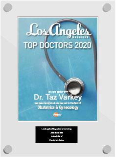 Dr Taz Varkey - Top Doctors 2020 - Obstetrics & Gynecology